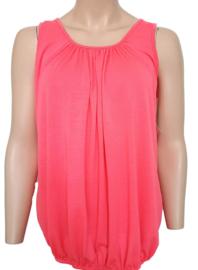 Mouwloze top / hemd neon roze