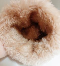 Gevoerde roze handschoenen