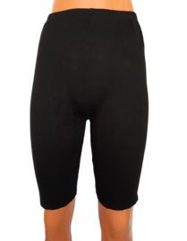Zwart wielrenbroekje voor onder een rok of jurk
