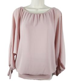 Oudroze blouse met elastische band