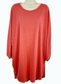 Koraalrode tuniek-jurk