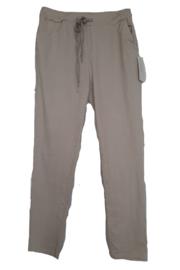 Khaki-beige stretch broek met koord