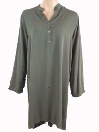Tuniek-jurk legergroen