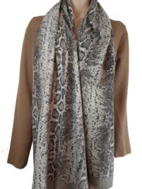 Camel sjaal met slangenprint