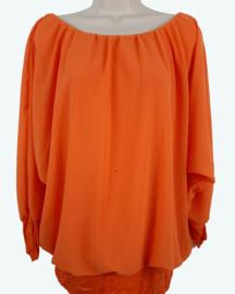 Blouse met elastische band, oranje