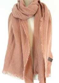 Effen sjaal rosé