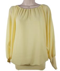 Gele blouse met elastische band