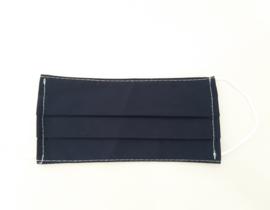 Katoenen mondkapje, rechthoekig donkerblauw