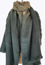 Zachte sjaal met twee tinten groen