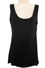 Gevoerd stretch hemd, kleur zwart