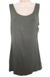 Gevoerd stretch hemd, kleur legergroen