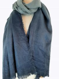 Zachte sjaal met twee tinten blauw