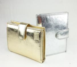 Zilver of goud kleurige portemonnee, echt leder