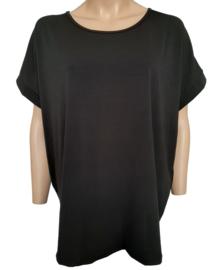 Ruim vallend T-shirt, zwart