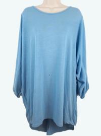 Lichtblauwe tuniek-jurk