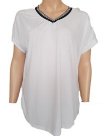 T-shirt met V-hals, wit