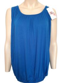 Mouwloze top / hemd kobaltblauw