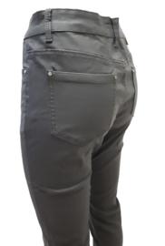 Leatherlook broek met stretch, grijs