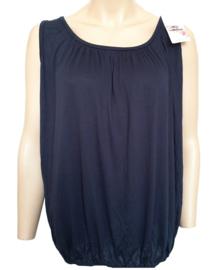 Mouwloze top / hemd donkerblauw