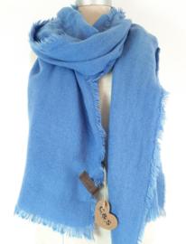 Effen sjaal, blauw