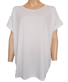 Ruim vallend T-shirt, wit