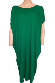 Tuniek-jurk met V-nek, groen