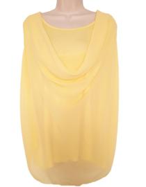 Grote maat top geel, model waterval