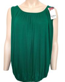 Mouwloze top / hemd groen