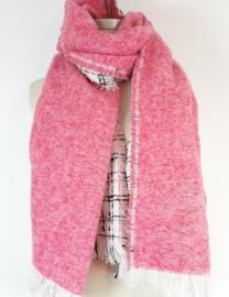 Dikke sjaal aan 2 kanten draagbaar