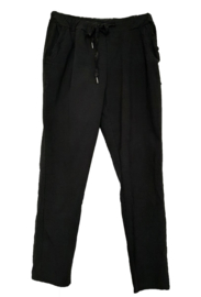 Zwarte stretch broek met koord