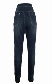 Karostar jogjeans met koord, donkere jeans nu ook in maat 50 en maat 52