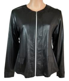 Leatherlook jack zwart