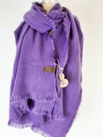 Effen sjaal paars
