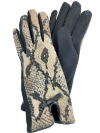 Handschoenen met slangenprint