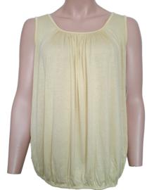Mouwloze top / hemd geel