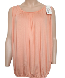 Mouwloze top / hemd abrikoos