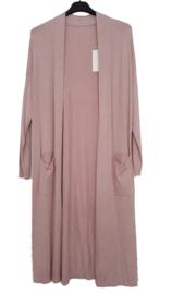 Lang vest, oud roze