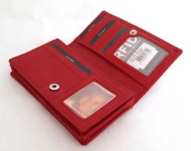 Lederen portemonnee met RFID bescherming in diverse kleuren
