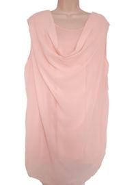 Grote maat top roze, model waterval