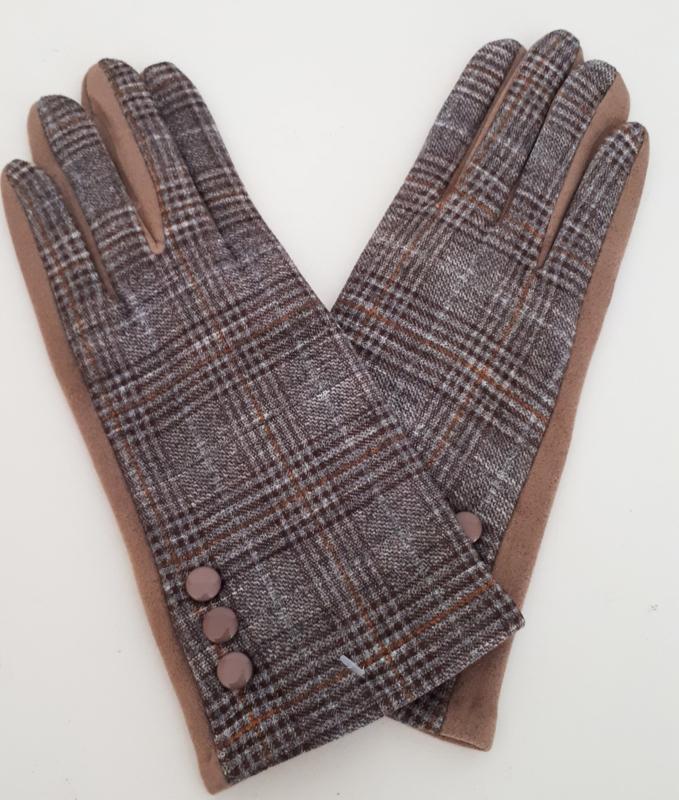 Handschoenen met klassieke ruit