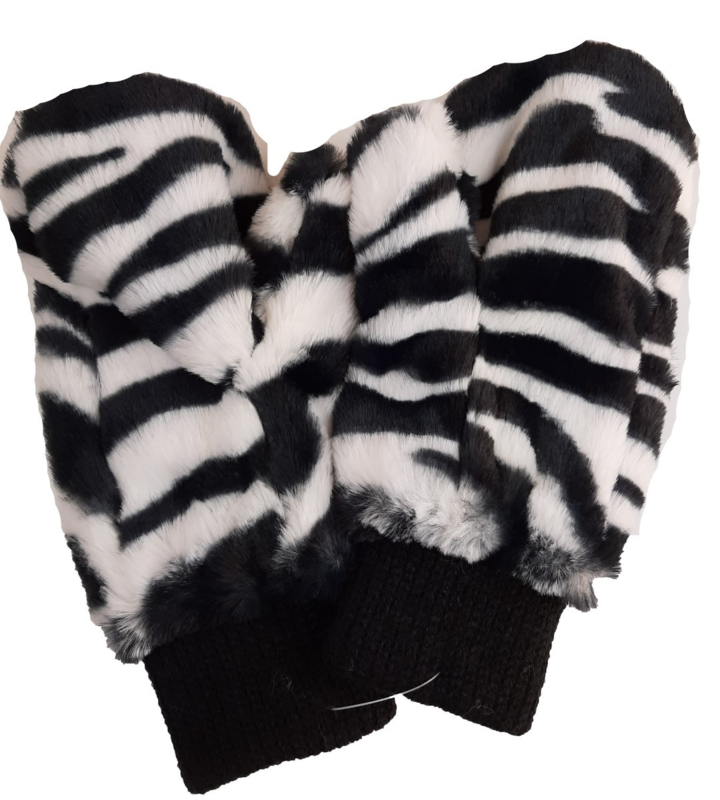 wanten met zebraprint
