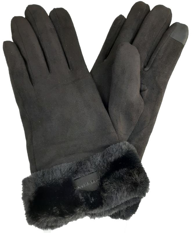 Gevoerde  zwarte handschoenen
