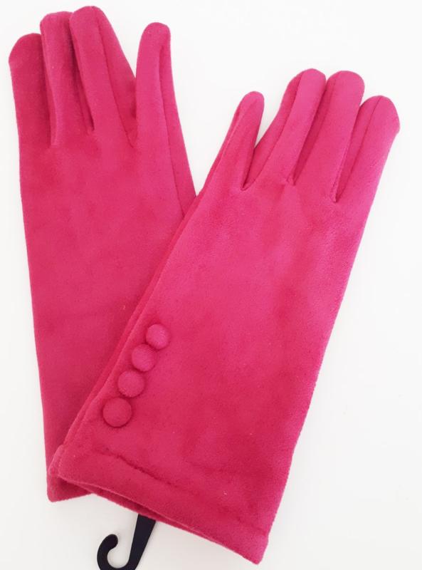 Fuchsia roze handschoenen
