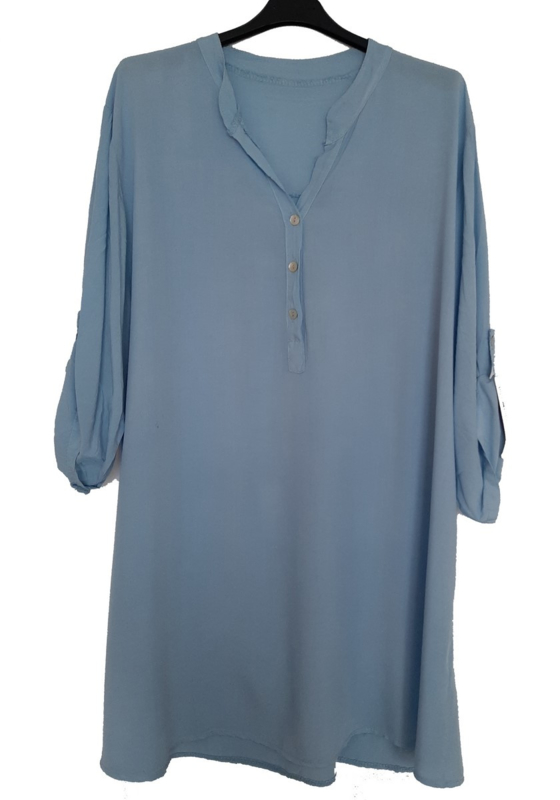 Lichtblauw tuniek