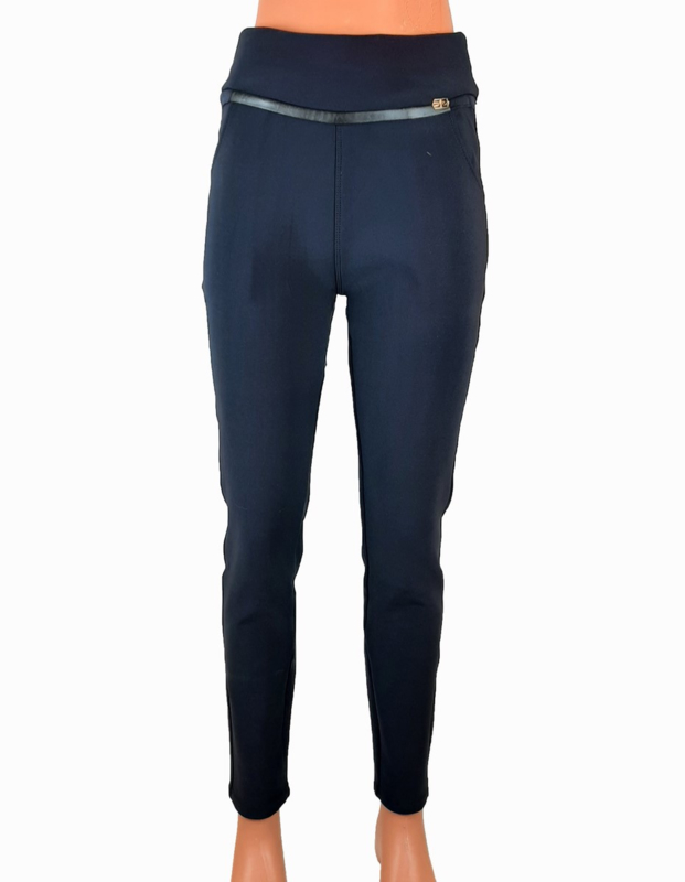 Broek/legging donkerblauw