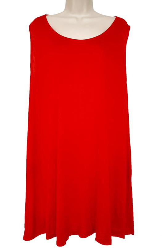 Lang hemd, grote maat, kleur rood