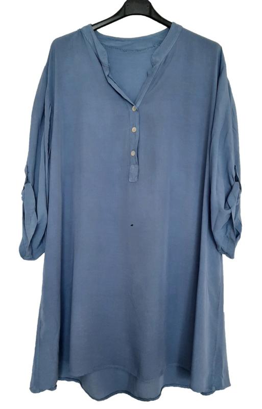 Jeansblauw tuniek