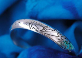 Tibetaans zilveren armband met Mantra