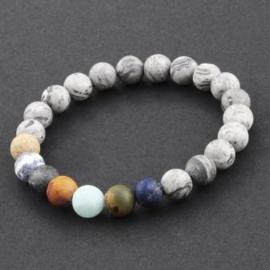 Planeten armband van Jaspis