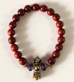 Boeddhistische mala armband met Ghanta-bel en Dorjé